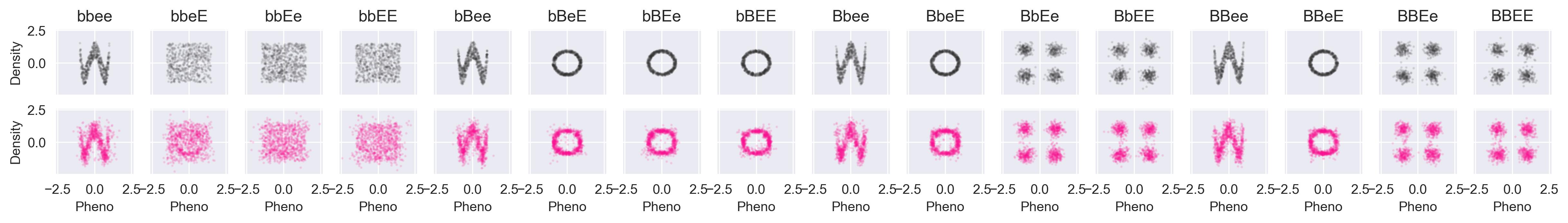 Multivariate epistatic phenotype distributions